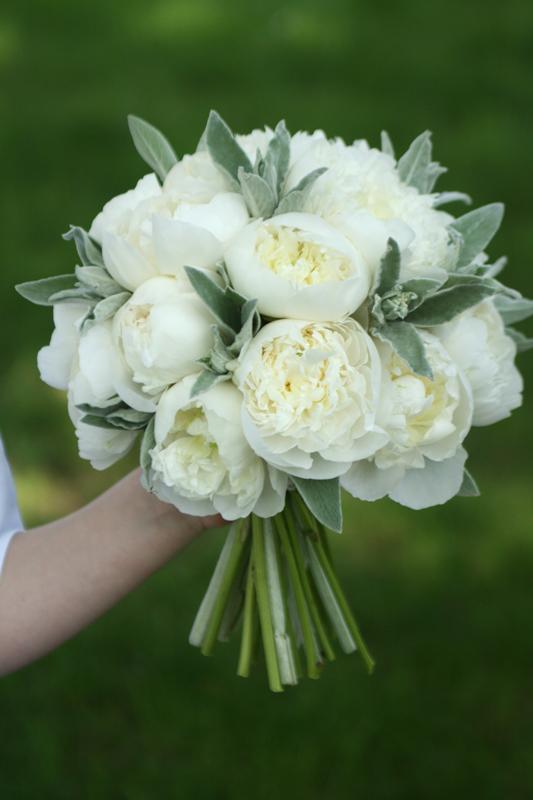 Peonies wedding bouquet Edinburgh