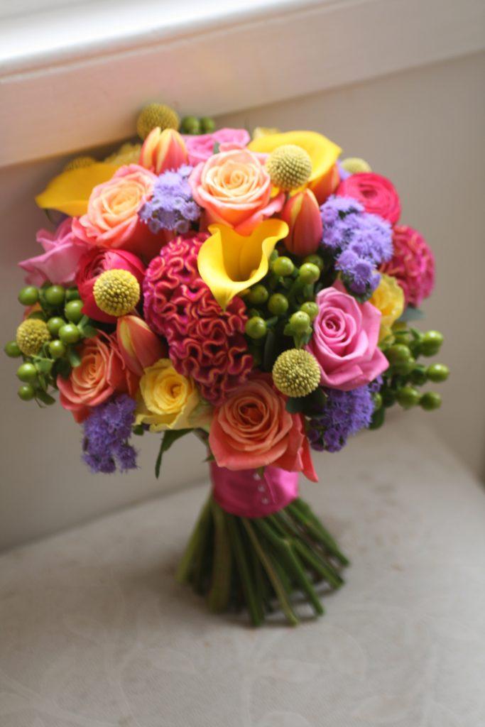 Bright Colourful wedding bouquet Edinburgh