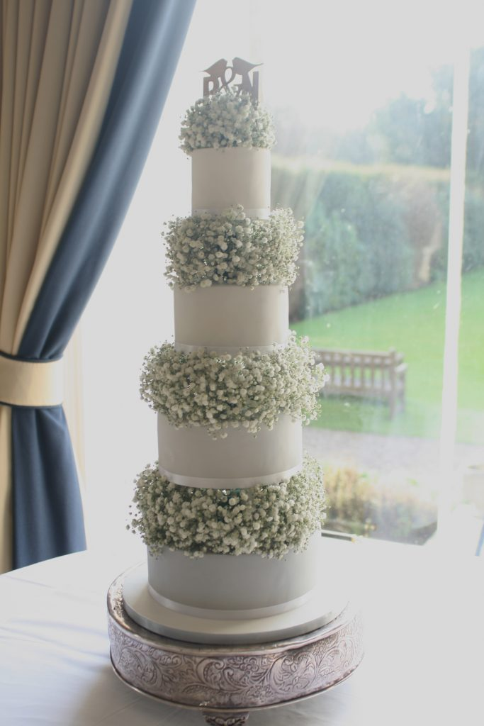 Wedding cake flowers Edinburgh