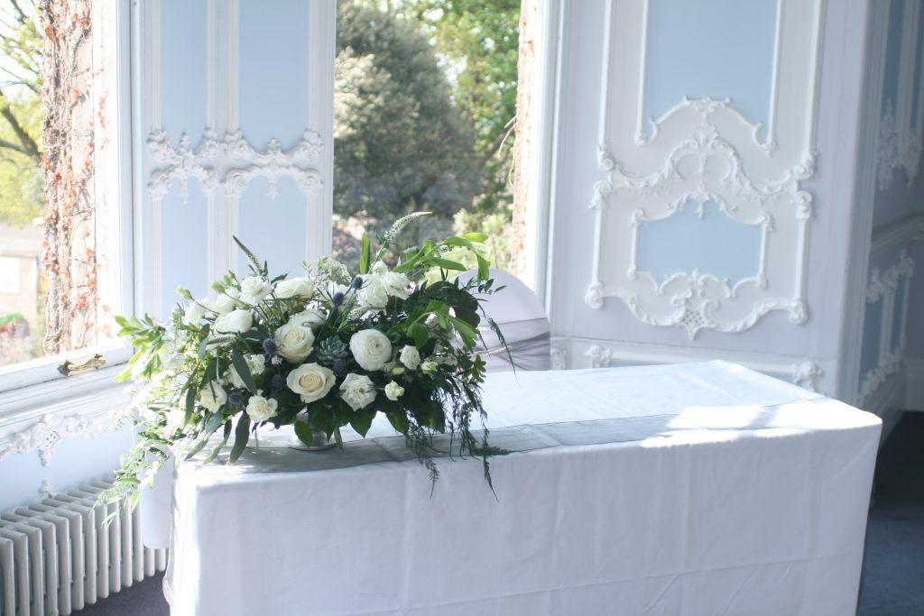 Compote ceremony flower arrangement Edinburgh