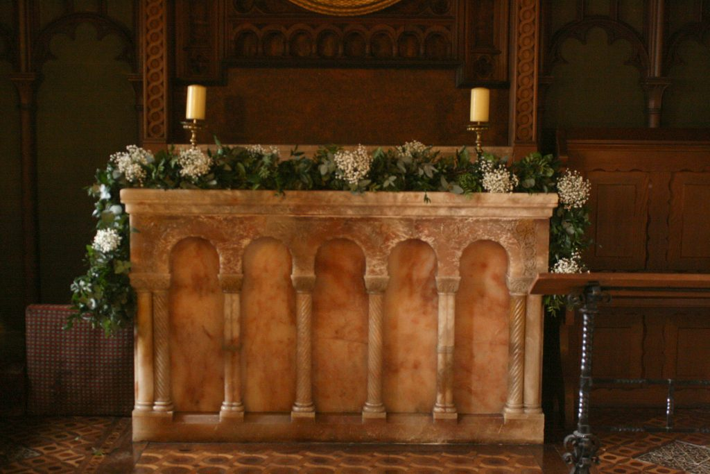 Newbattle Abbey wedding florist